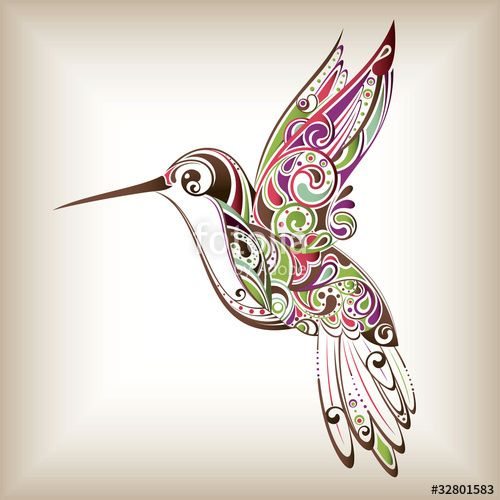 """Descargue el vector libre de derechos """"Hummingbird"""" creado por billybear al precio más bajo en Fotolia.com. Explore nuestro económico banco de imágenes para encontrar el vector perfecto para sus proyectos de marketing."""