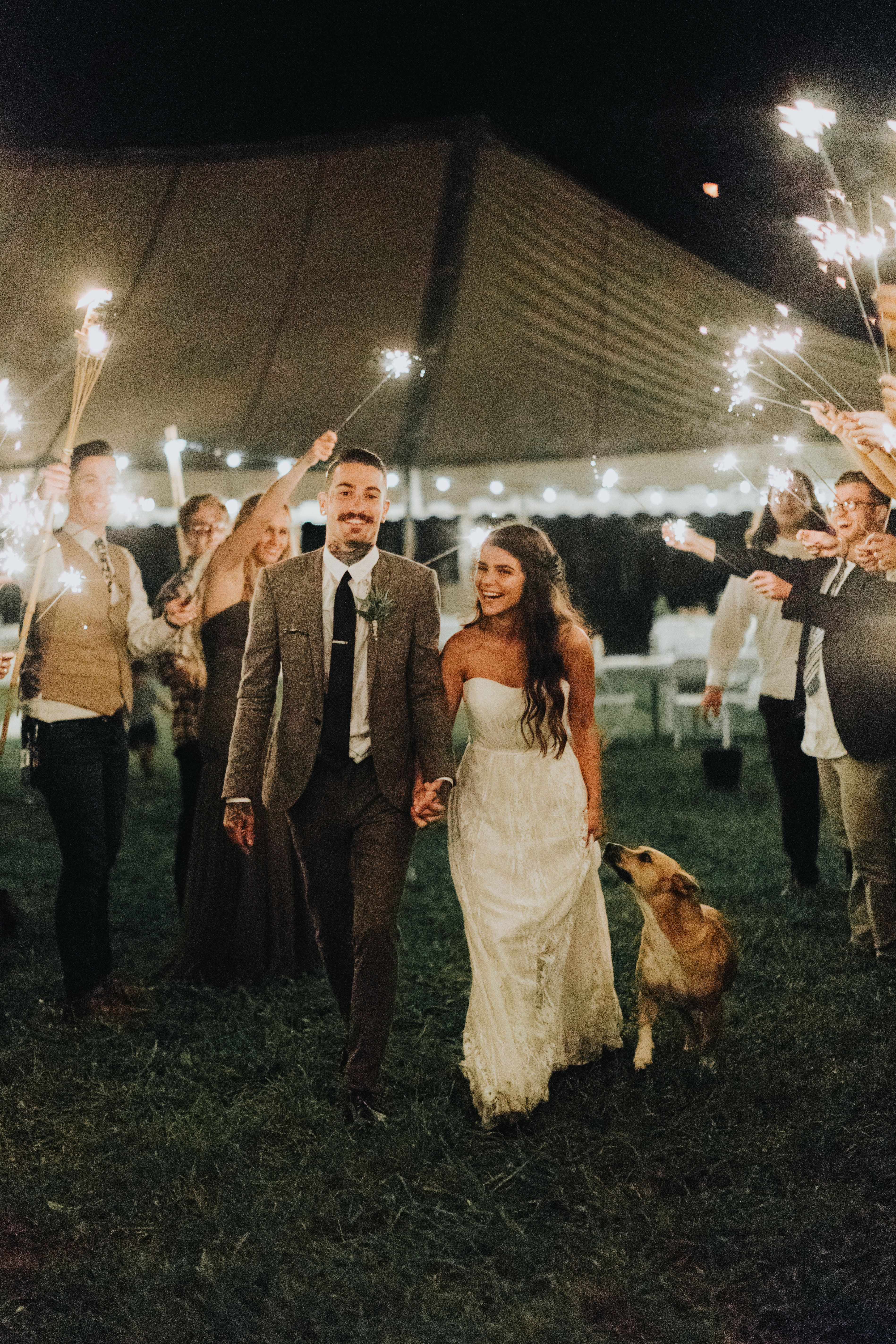 Sparkler Exit Ideas Backyardwedding Sparklerexit Backyard