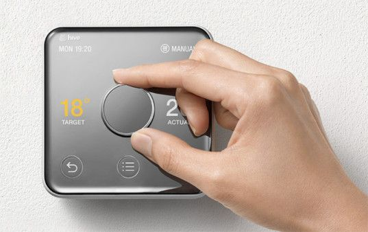 Yves Behar S Sleek Hive 2 Thermostat Looks Like A Polished Mirror Thermostat Smart Thermostats Thermostat Frame