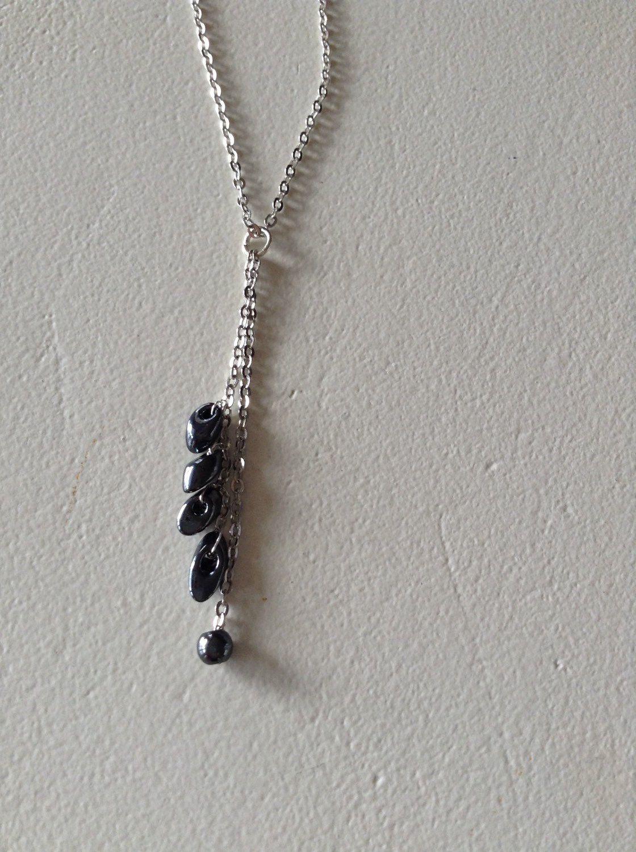 Le chouchou de ma boutique https://www.etsy.com/listing/267909209/black-onyx-silver-plaited-necklace