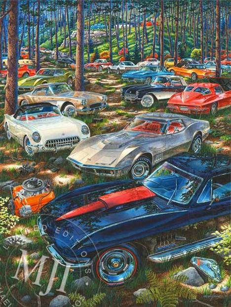 Automotive Art Gallery Michael Irvine Studios Muscle Car Artwork