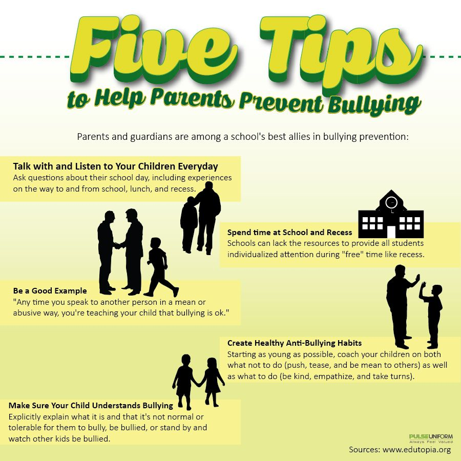 Here are some tips to help parents prevent bullying