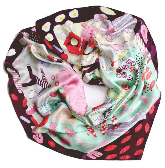 Robbery in a Sweet Shop SIlk Scarf