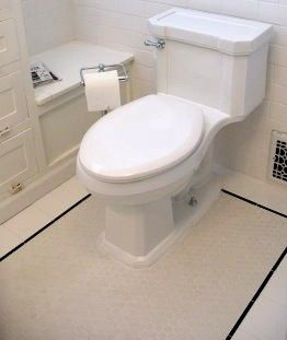 Good Home Construction's Renovation Blog: Matte or Gloss Hexagonal Tile for 1920's bathrooms