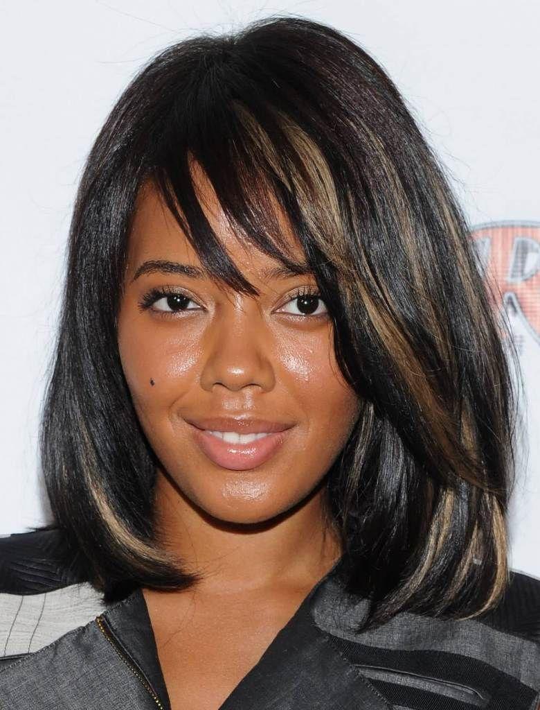 Medium length layered hairstyles for black women beauty