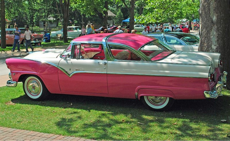 1955 Ford  Tropical Rose 1955 Ford Fairlane  Paint Cross