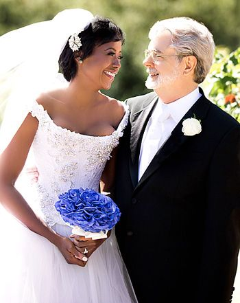 George Lucas Marries Mellody Hobson See Their Romantic Wedding Picture Celebrity Weddings Hollywood Wedding Bride