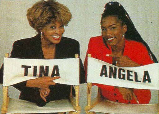 TINA & ANGELA 20 yrs ago on the set of WHAT'S LOVE GOT TO DO WITH IT.