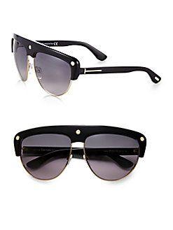0c99706f9a5ea Tom Ford Eyewear - Liane Shield Aviator Sunglasses