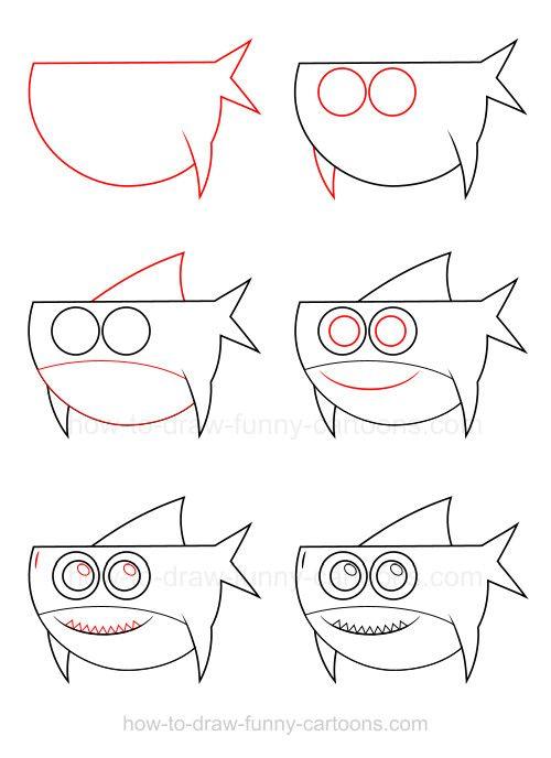 How To Draw A Shark Animal Drawings Cartoon Drawings Cartoon Drawings Of Animals