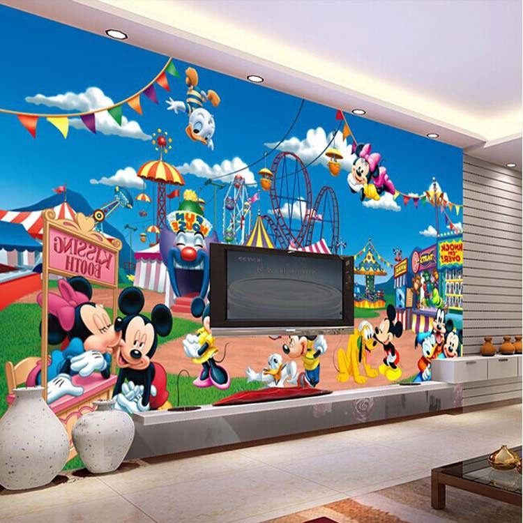 Best Cartoon Mickey Mouse Wallpaper Cute Mural Photo Giant Wall 400 x 300