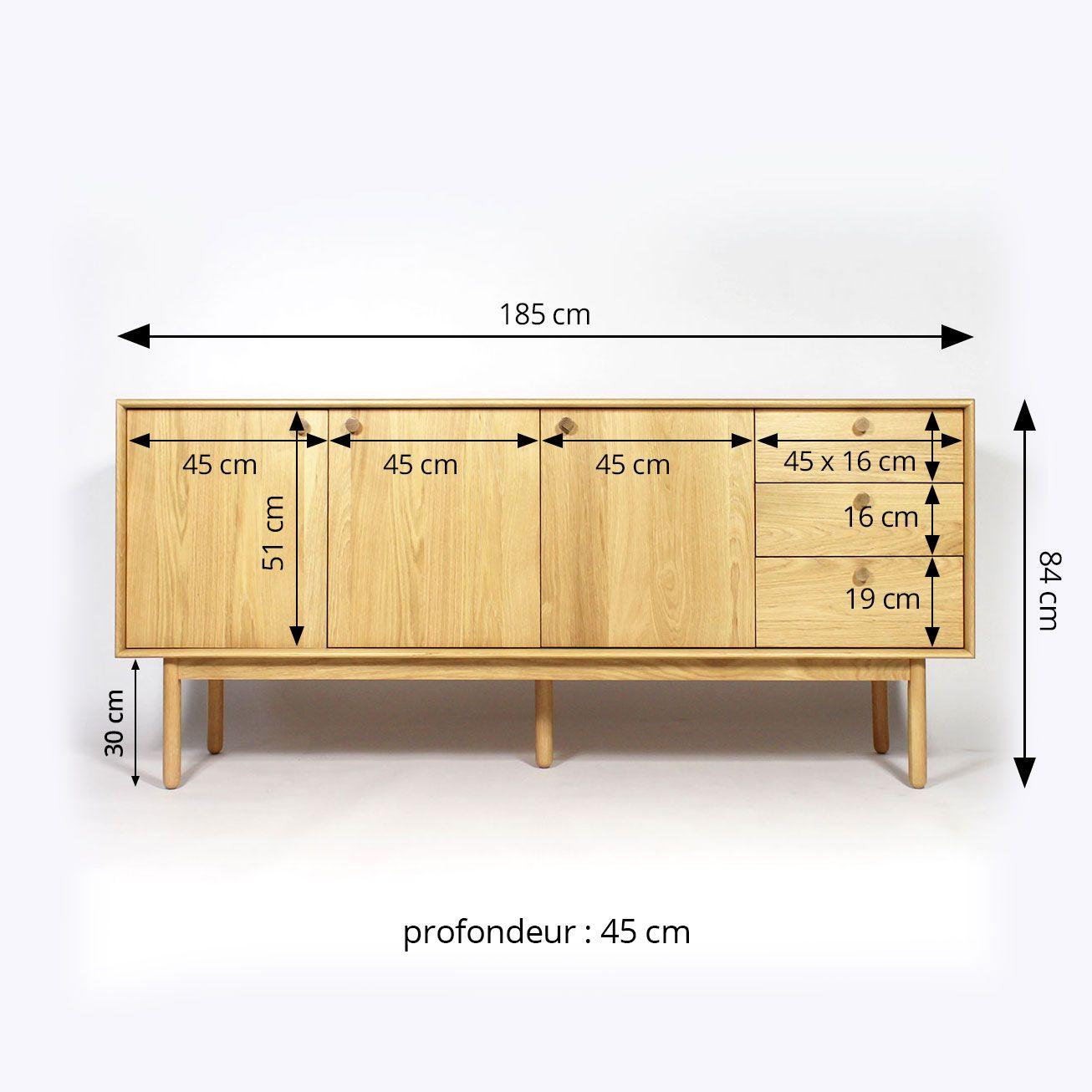 Buffet Bois Massif Vintage 3 Portes 3 Tiroirs In 2019 Sideboard Cabinet Vintage Buffet Home Decor