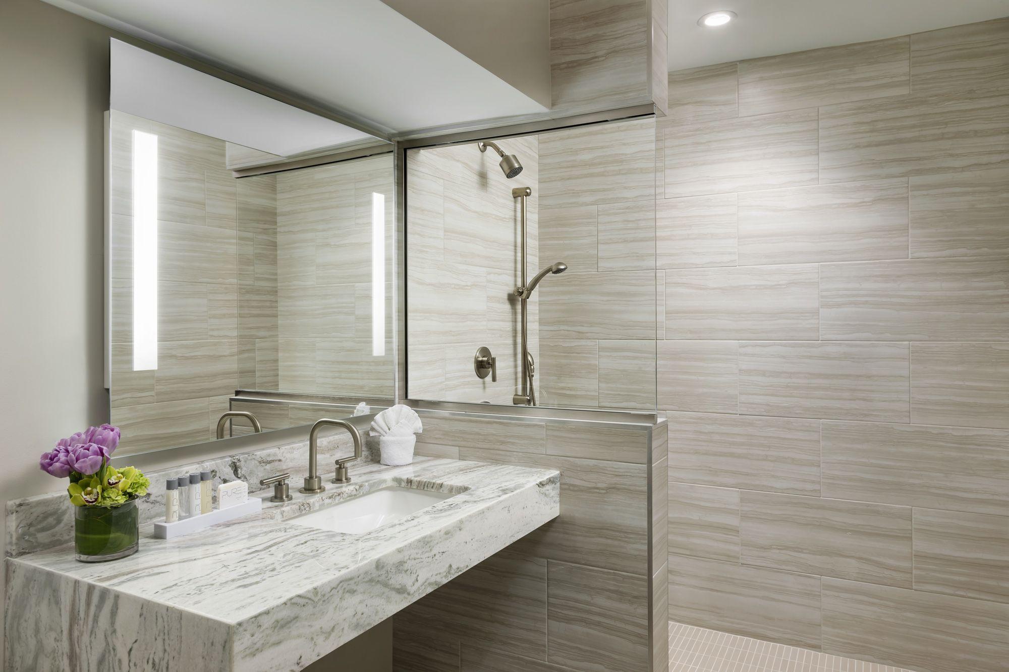 Walk In Shower In The Garden Suite At Boston Park Plaza Garden Suite Boston Hotels Hotels Room