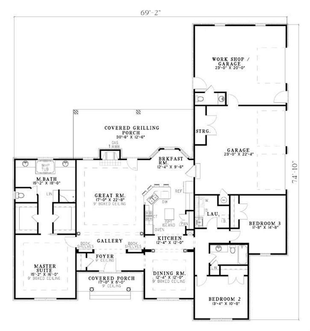 Large Ranch House Floor Plans Http Uhousedesignplans Com Large Ranch House Floor Plans Ranch House Plans House Plans Ranch House Plan