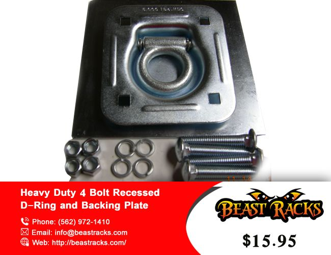 Heavy Duty 4 Bolt Recessed D Ring And Backing Plate Acc Drp