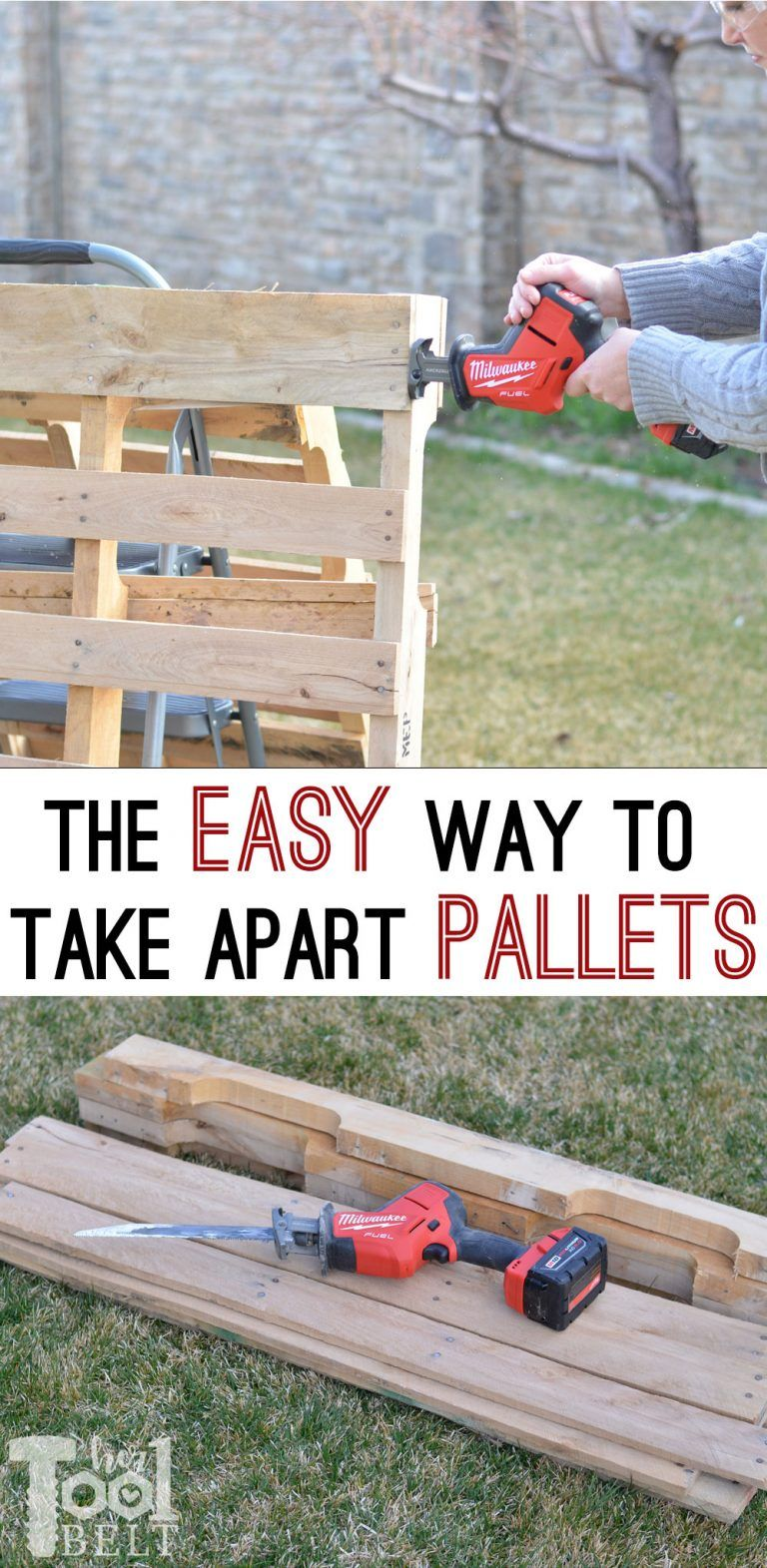 How to take apart pallets easy her tool belt outdoor