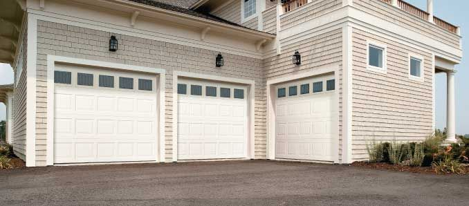 Want New Garage Doors Clic Square Panels With Gl Windows Above