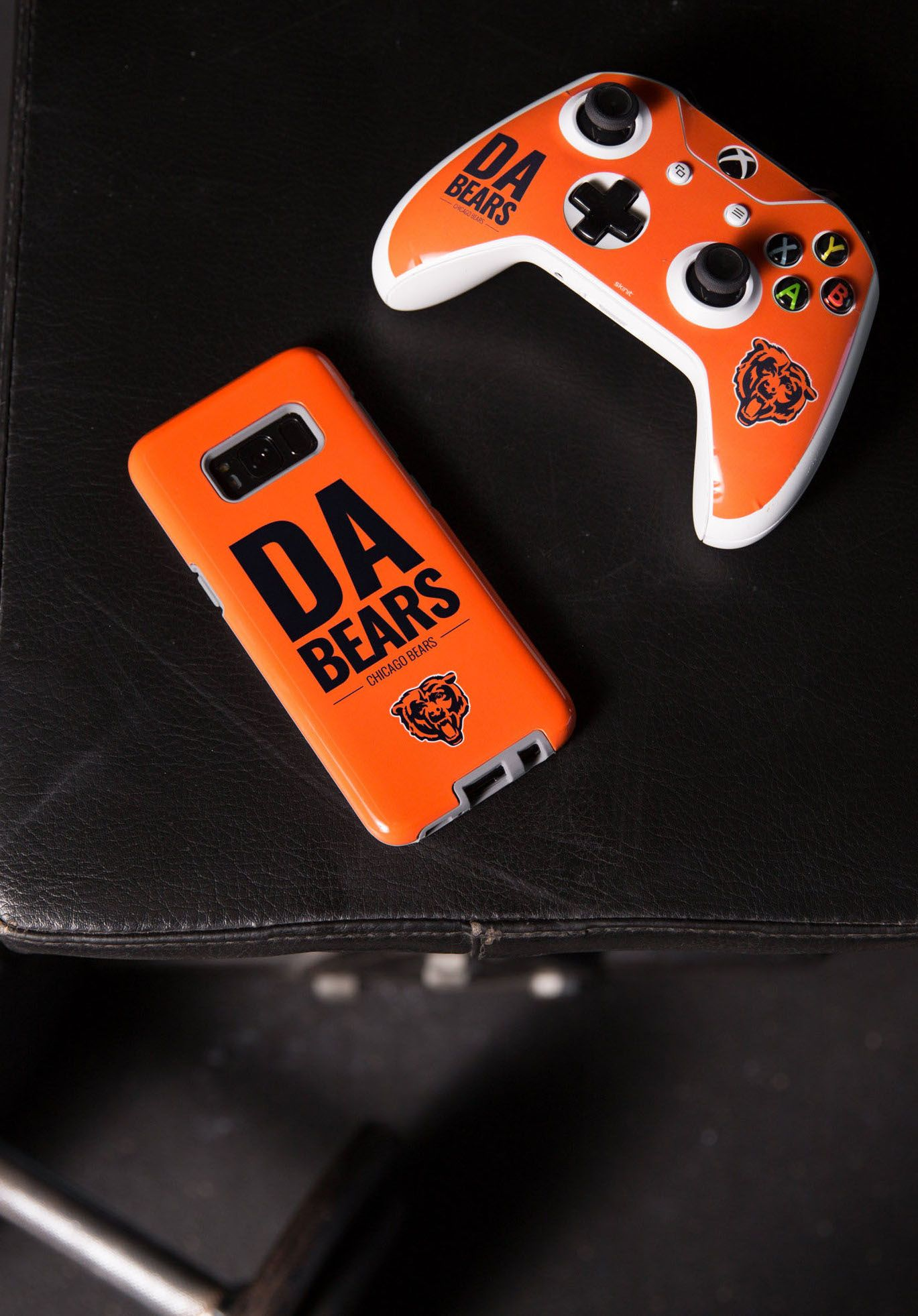 Get Your Game On Bears Dabears Xbox Console Controller Controllerskins Nfl Football Gamingskins Nfl Teams Nfl Team Slogans