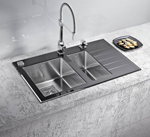 Superb Modern Stainless Steel Sink Part - 5: Stainless Steel Kitchen Sinks Are Modern Trends In Kitchen Design. Modern  Faucets In Contemporary Style