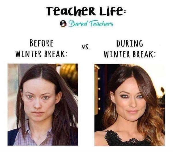 15 Winter Break Teacher Memes That Ll Make You Die Laughing Bored Teachers Teacher Memes Teacher Humor