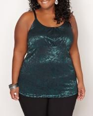 Printed lace tank top