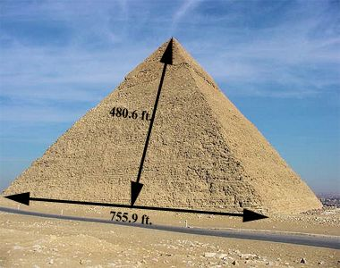Wonder if we could find a place big enough to draw the Great Pyramid Of Giza Blueprints with sidewalk chalk.