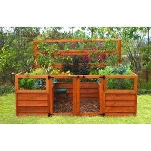 Delicieux EarthEasy Elevated Cedar Complete Raised Garden Bed Kit   8 X 8 X 20