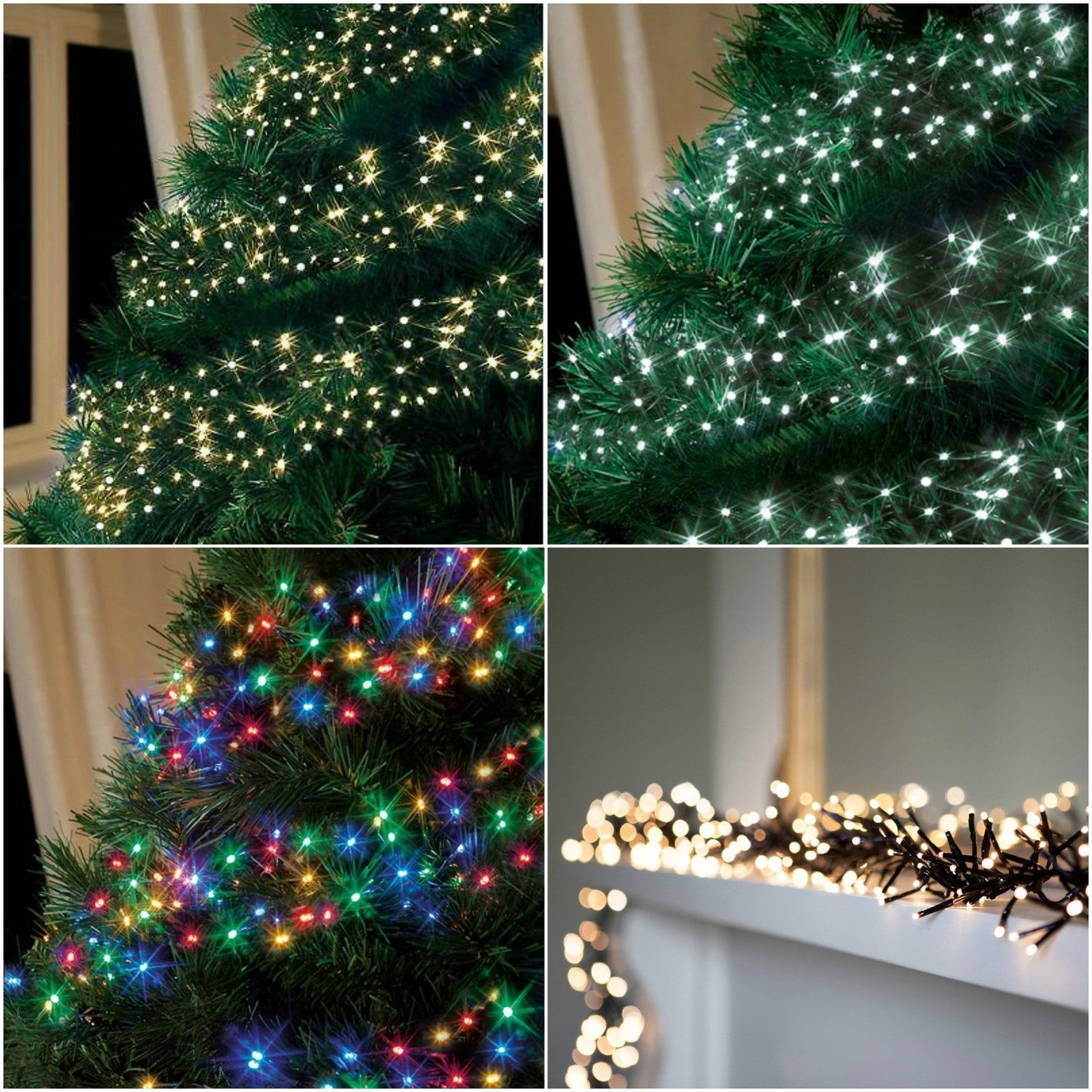 How To String Lights On A Christmas Tree Unique 280480720960 Led #christmas Cluster #string #lights Indoor Design Decoration
