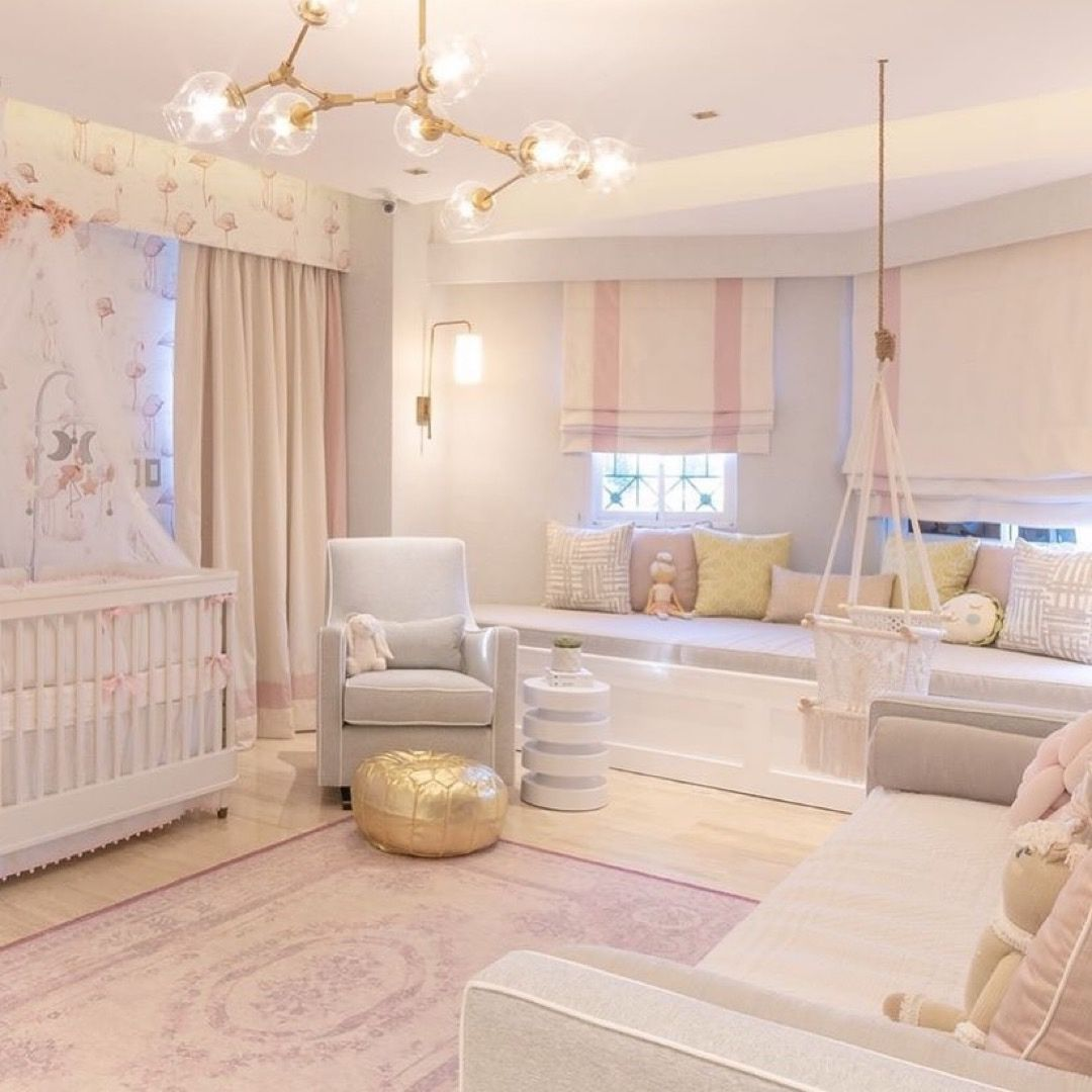 A Nursery Fit For A Little Princess Spot The Lucaglider And Dormabed Bedsandfeathers Design Luxury Baby Nursery Baby Room Decor Baby Girl Nursery Room Luxury baby bedroom design