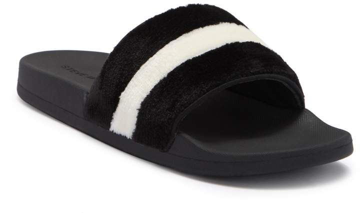 e2760b39cf12d Steve Madden Resort Faux Fur Slide Sandals #mens, #sandals, #promotion