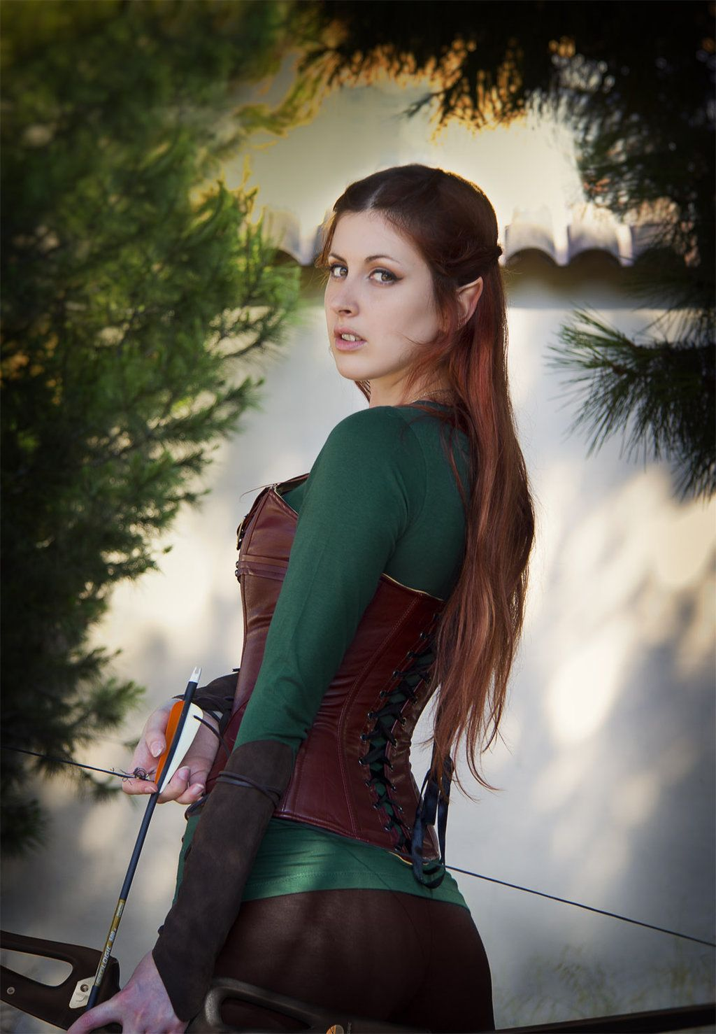Gorgeous Hobbit - Tauriel elven red head leather cosplay ...