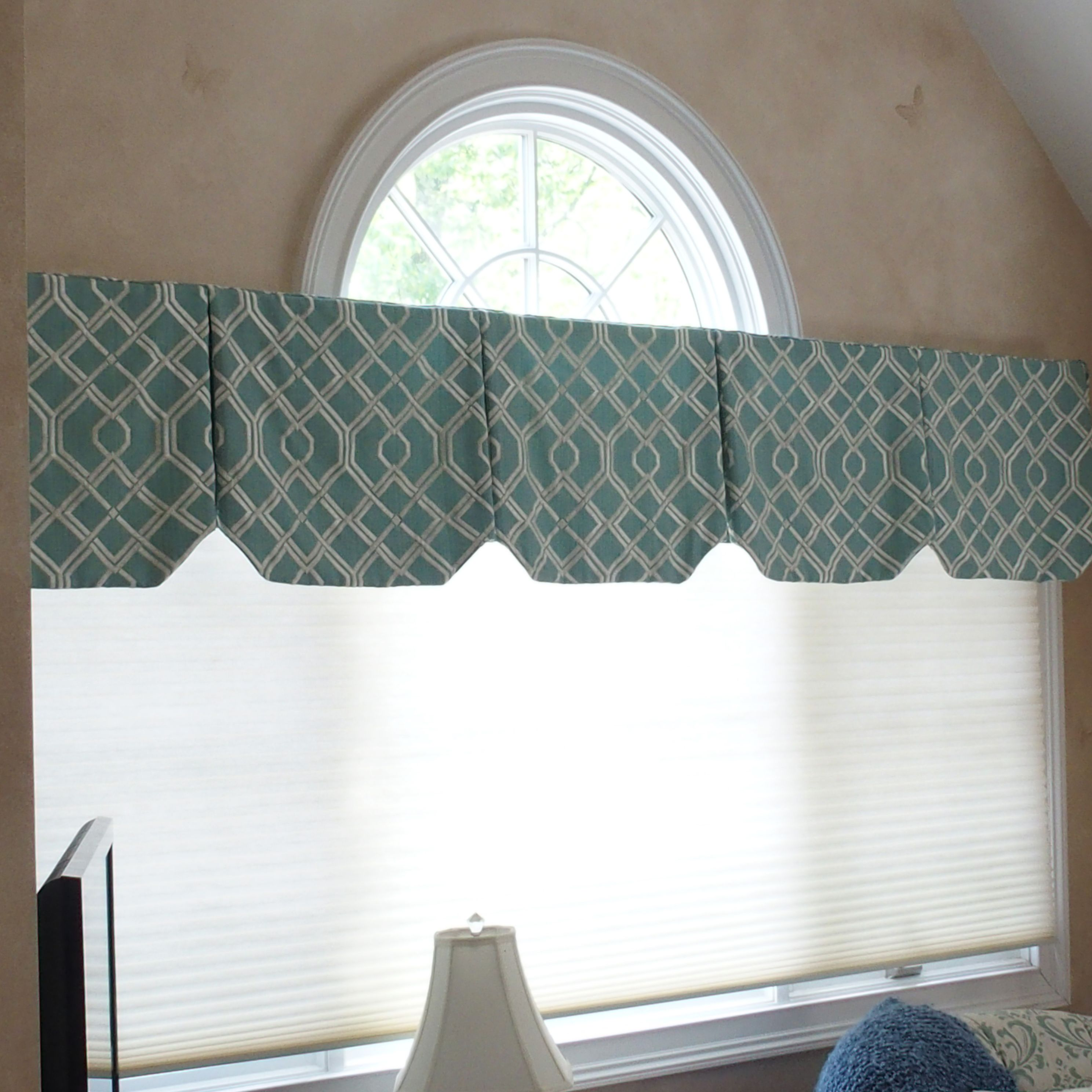 Privacy Curtain For Bedroom Box Pleat Valances With Angled Hems Decorate This Palladium Window