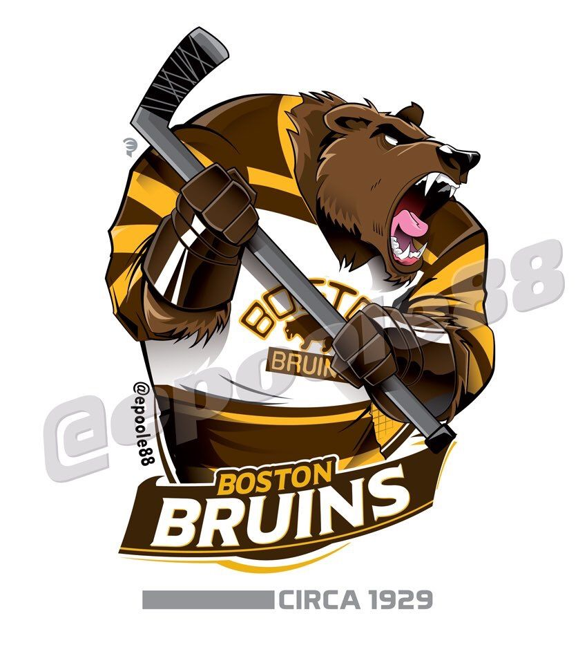 reputable site a744a 4026f A brown bear with the 1929 Boston Bruins jersey. | Sports ...