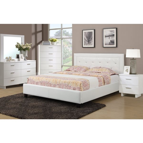 Podolinec 4-piece Bedroom Set with Matching Nightstand, Mirror and