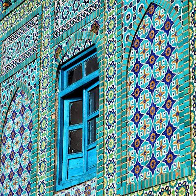 architecture & windows WoW - Blue Mosque in Mazar-e-Sharif, Afghanistan