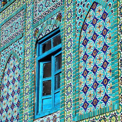 architecture & windows WoW - Blue Mosque in Mazar-e-Sharif, Afghanistan