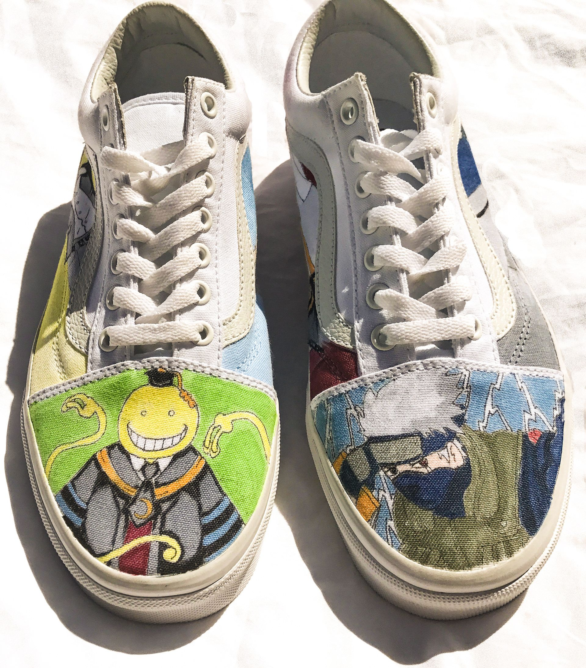 #32 Classroom Assassin Anime on Vans Old Skool lace ups