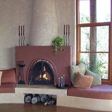 Kiva Fireplace Traditional Flat Front Fireplace Design