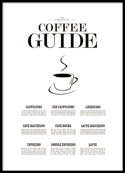Coffee guide - schönes Poster für die Küche   Illustrations ...