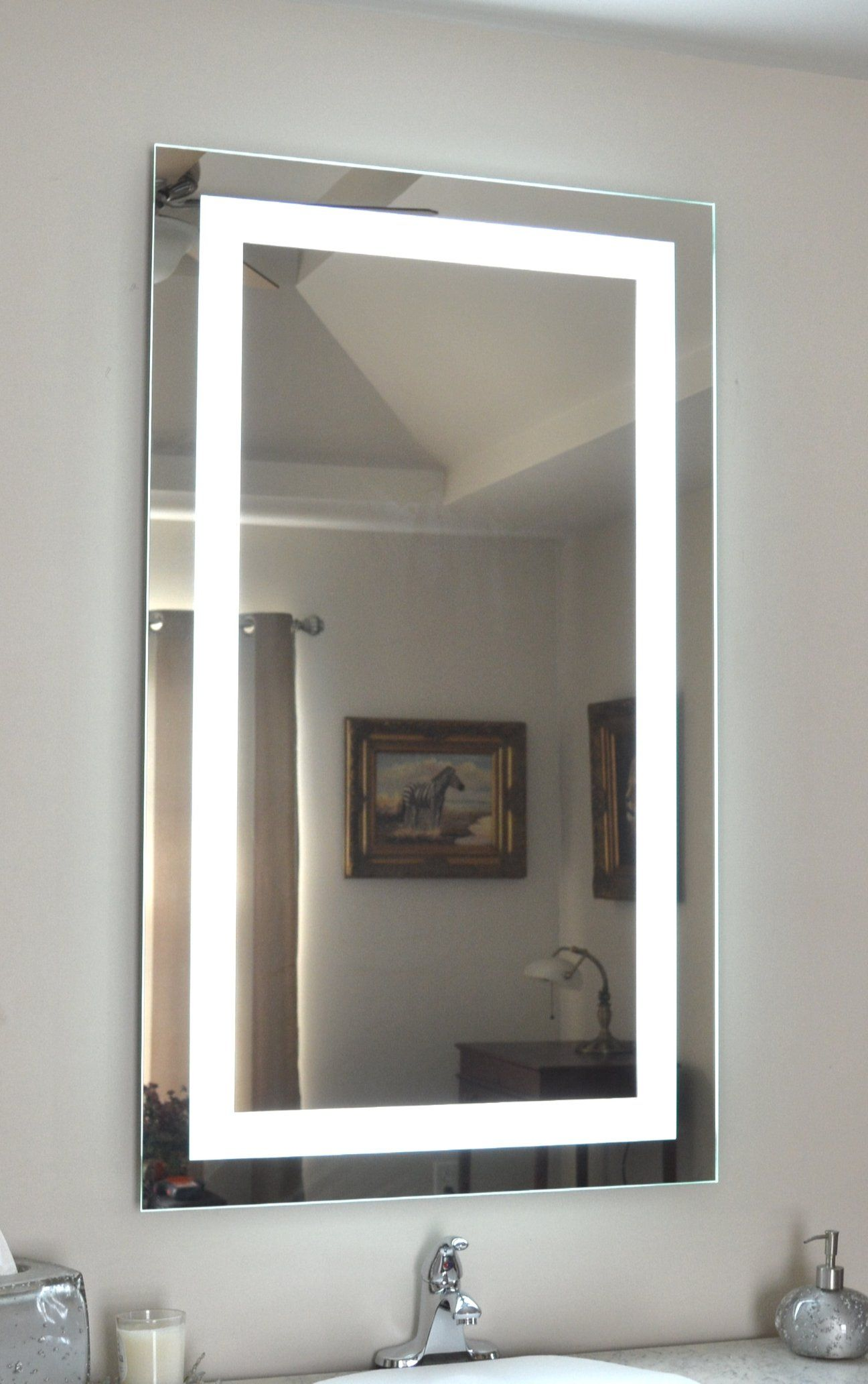 Front Lighted Led Bathroom Vanity Mirror 28 Wide X 48 Tall