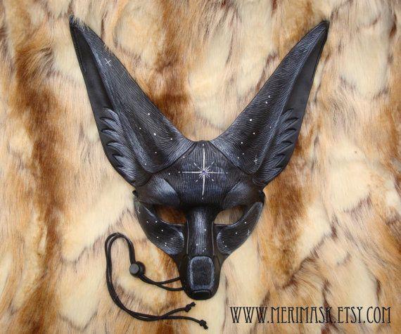 made to order starlight fennec fox ledermaske handmade. Black Bedroom Furniture Sets. Home Design Ideas