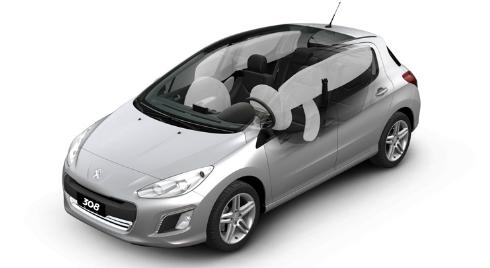 Peugeot 308: airbags