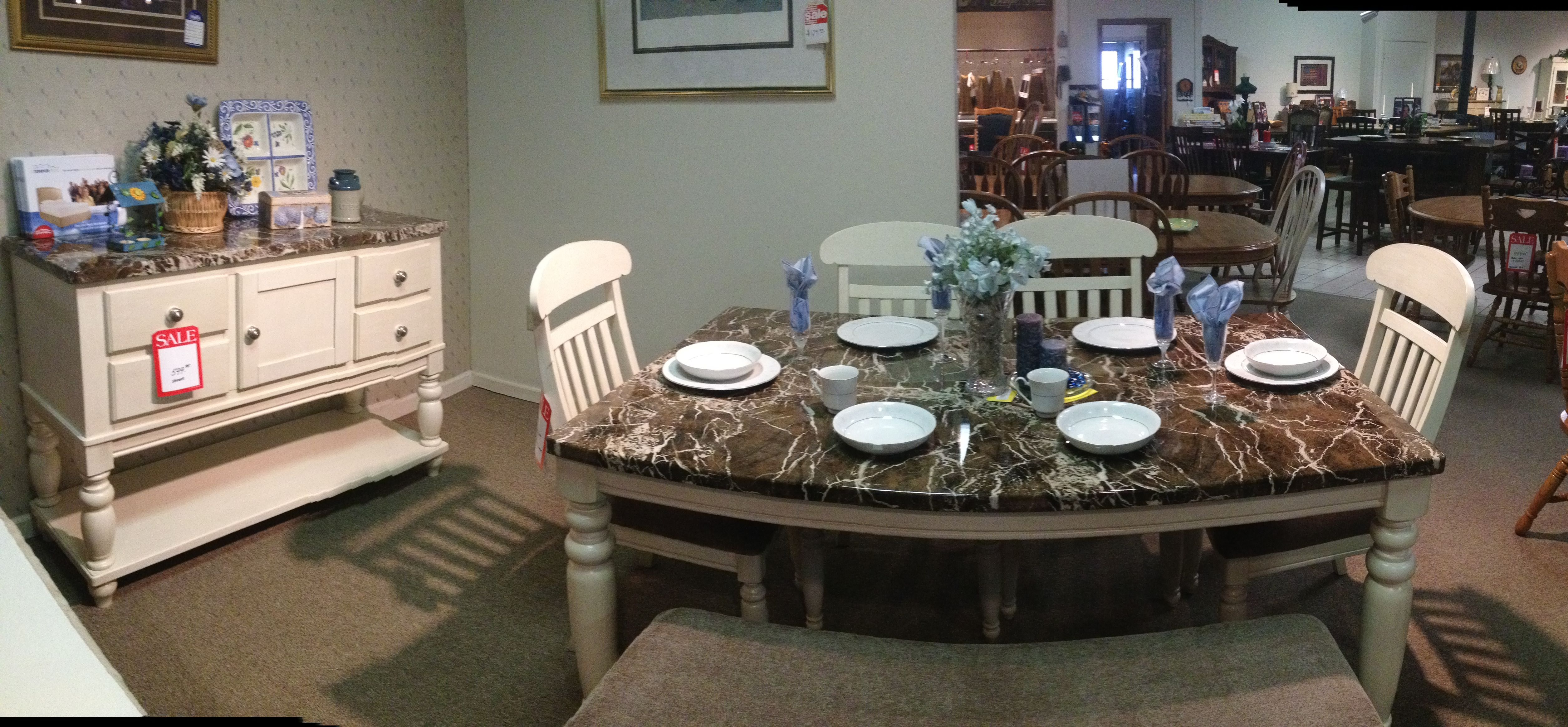 Classic Country Blue Themed Dining Room Designed By Adam Dunhoff