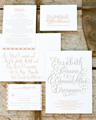 """See the """"Assembly"""" in our 10 Things to Know Before You Mail Your Wedding Invitations gallery"""