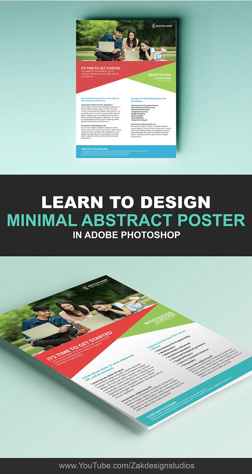 learn to design education flyer design in adobe photoshop photoshop