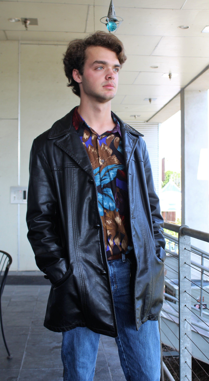 Black Leather Coat 42r Men Angel Skin Cabretta Leather By Etsy Black Leather Coat Leather Coat Leather Jacket Men