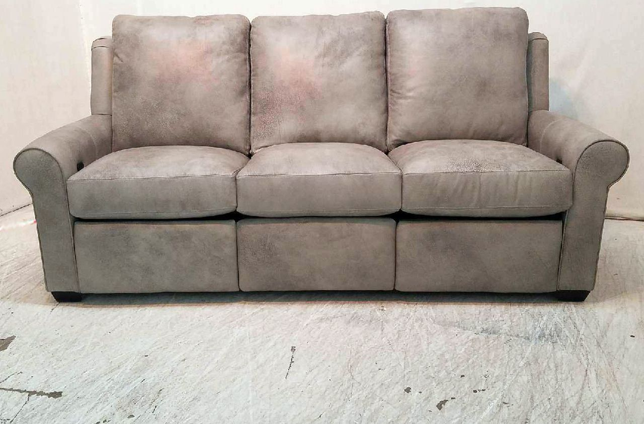 Power Reclining Sofa Made In Usa Dial Fabric Microfiber Jackson Leather Recliner American Heritage The