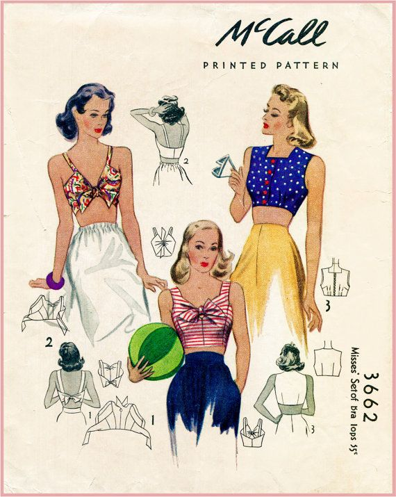 1940s Inspired Halter Top