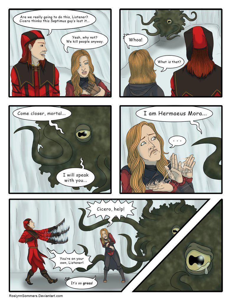 TESV: Hermaeus Mora by RoslynnSommers on DeviantArt Skyrim Comic, Skyrim  Funny, Elder Scrolls