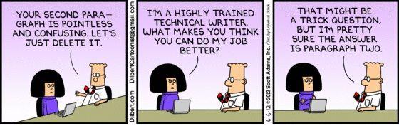 Dilbert Tech Writer Jpg 560 177 Work Humor Coding Humor Technical Writer
